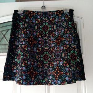 Zara Woman Floral Mini Skirt